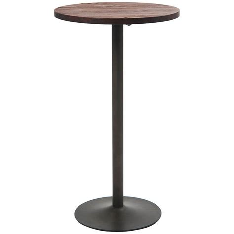 round bar height table round industrial series bar height table