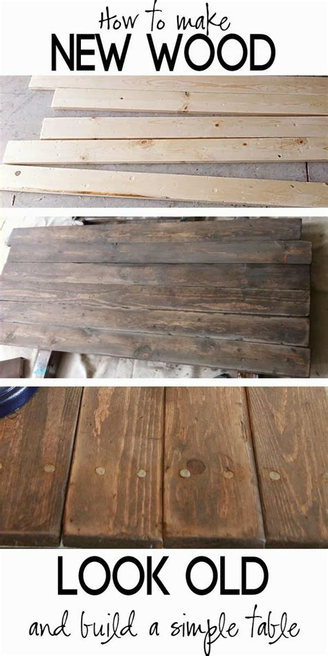 Build A Rustic Sofa Table & Make New Wood Look Old