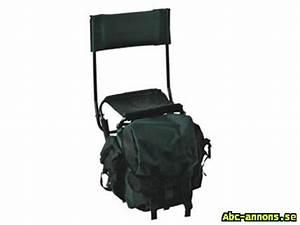 Ryggsäck stol med ryggstöd