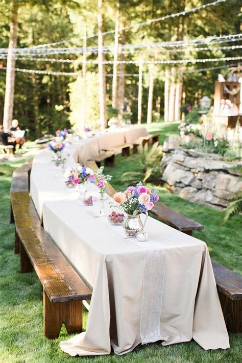 backyard wedding idea 35 rustic backyard wedding decoration ideas deer pearl