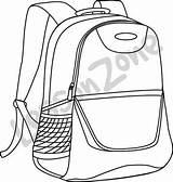 Drawing Bookbag Getdrawings sketch template