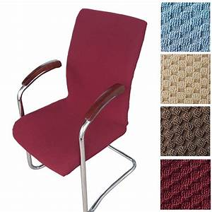 Dining chair office computer chair cover one piece elastic for Chair back covers for leather chairs