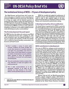 un desa policy brief economic analysis policy division With policy brief example template