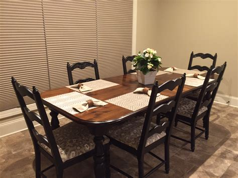 refinishing dining room furniture for new home just
