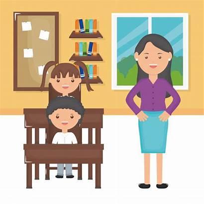 Aula Studenti Insegnante Nell Gli Jonge Maestra