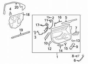 Cadillac Cts Door Wiring Harness  Memory  Mirror  Fldg