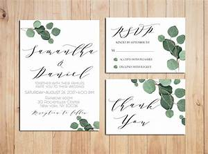 greenery wedding invitation printable wedding invitations With greenery wedding invitations free
