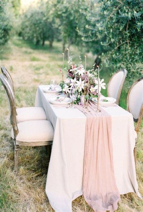 cheesecloth cotton gauze wedding table runner rustic table