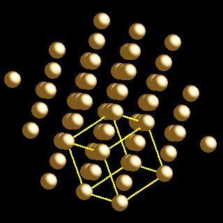 webelements periodic table gold crystal structures