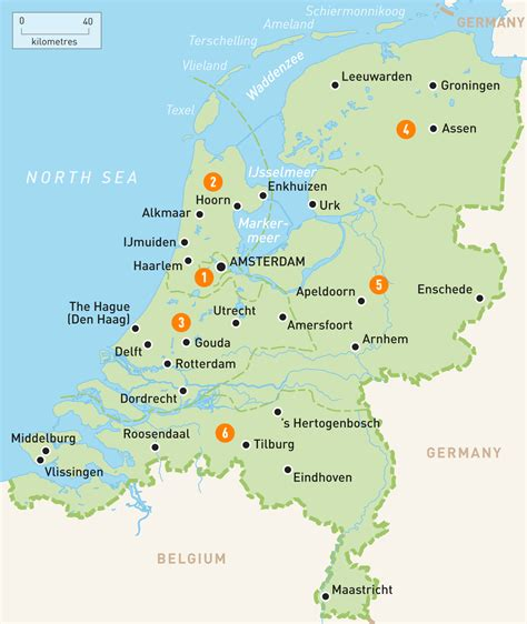 map   netherlands netherlands regions rough