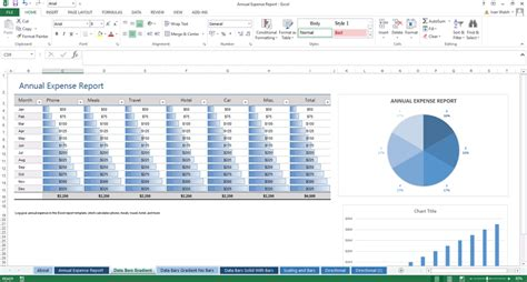 excel template annual expense report