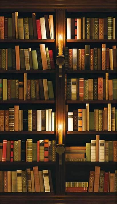 Bookshelf 3d Candles Door Mural Paper