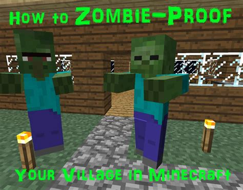 minecraft village zombie proof villagers zombies build door wolves villager fence steve protect houses night mobs worst buildings into torches
