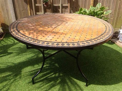 authentic moroccan mosaic garden table  oxford