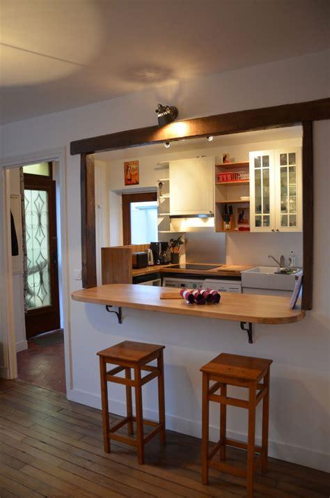 bar pour cuisine ouverte cuisine ouverte sur salon avec bar kirafes