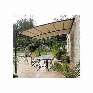 Tonnelle Pour Balcon : toile pour tonnelle adoss e de jardin 3x4 en acier ~ Premium-room.com Idées de Décoration