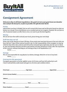 consignment agreement buy it all consignment forms With consignment shop contract template