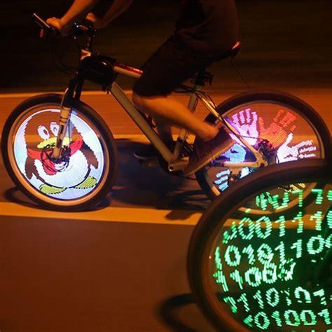 lights for bike tires programmable bicycle lights 128 led diy bike wheel spokes
