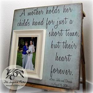 mother of the bride gift personalized picture frame a mother With wedding gift for mom