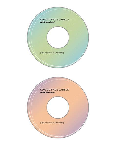 cddvd label template microsoft word templates