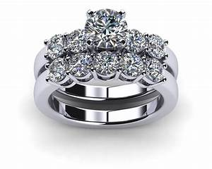 Engagement rings wedding sets platinum common prong five for Wedding ring sets platinum
