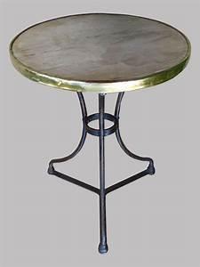 Table Bistrot Ancienne : table de bistrot en fer forg plateau rond en marbre gain de laiton ~ Melissatoandfro.com Idées de Décoration