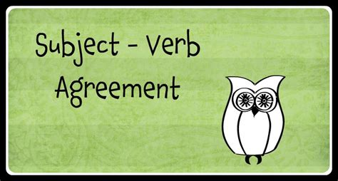 Subject  Verb Agreement  Funny Side Up