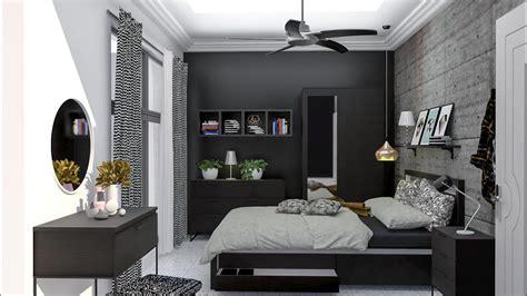 Vray Rendering For Sketchup  Black Bedroom Interior