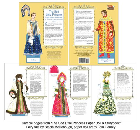 The Sad Little Princess Paper Doll & Storybook [fairy Tale