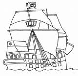 Pirate Ship Coloring Pages Flag Clipartqueen sketch template