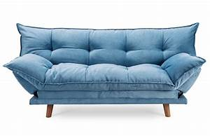 clic clac confortable design scandinave bleu piece a vivre With canapé confortable et design