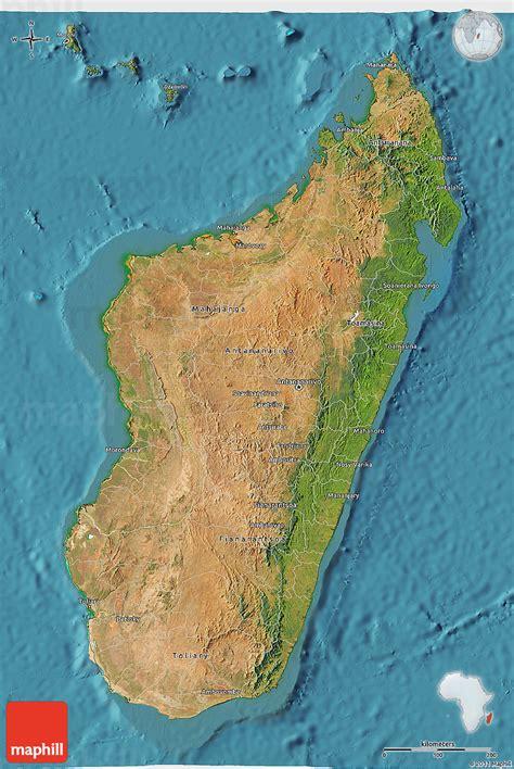 satellite  map  madagascar