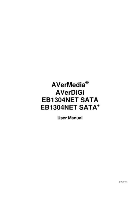 Eb1304 Net Sata&Sata+ Manual En