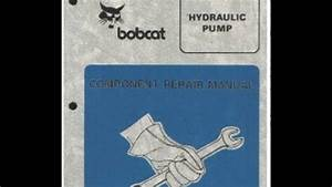 Bobcat Hydrostatic Pump Component Service Repair Workshop