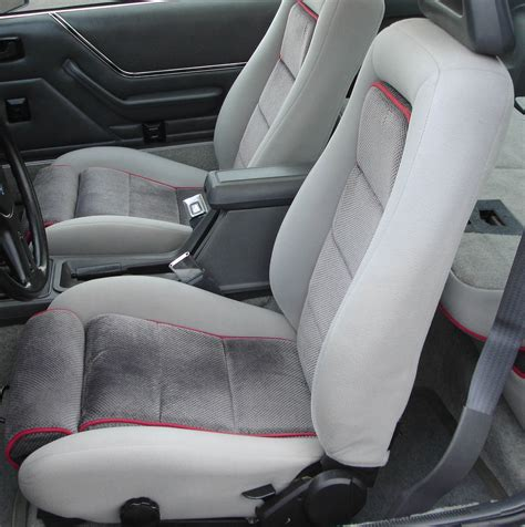 best mustang seats 1984 86 ford mustang hatchback gt cloth seat upholstery set