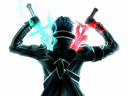 Swords Kirito Deviantart Attach Sword Dual Sao