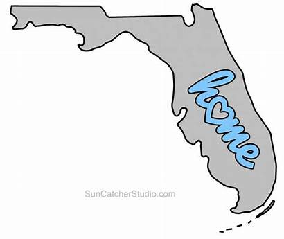 Florida Outline Map Printable State Shape Stencil