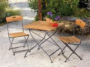 Salon De Jardin Acier : salon de jardin en teck fsc et acier lude 1 table 2 chaises 39323 ~ Teatrodelosmanantiales.com Idées de Décoration