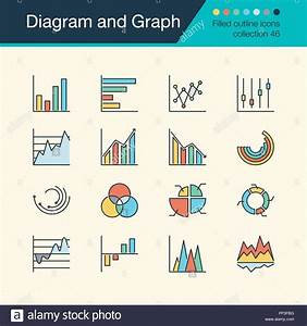 Diagram And Graph Icons  Filled Outline Design Collection