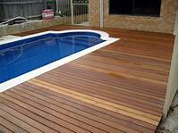 magnificent patio fence design ideas white pool with brown wooden deck plus grey wooden fence ...