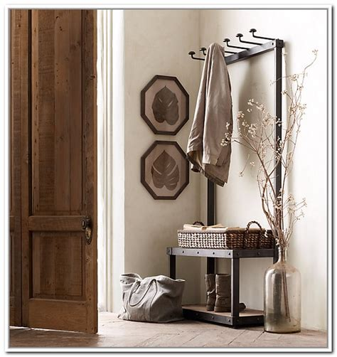 entryway storage bench with coat rack entryway bench and coat rack treenovation