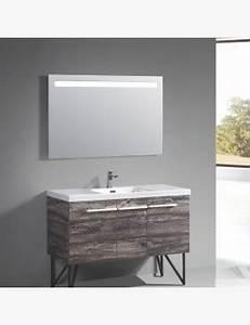 miroir lumineux 80 cm pour salle de bain avec bandeau led haut With miroir salle de bain avec bandeau lumineux
