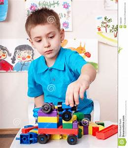 Child Play Construction Set At Home. Stock Image - Image ...