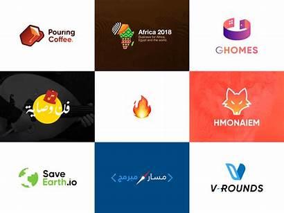 Logos Dribbble Colors Creative Animation Vector Golden