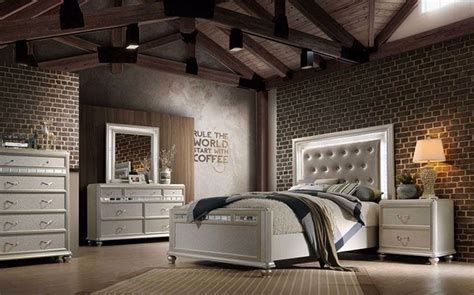 hollywood glamour bedroom set   queen size