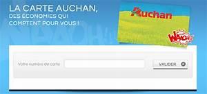 Carte De Fidelité Auchan Fr Activer : activation carte waaoh auchan en ligne ~ Dailycaller-alerts.com Idées de Décoration