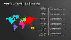 Vertical Creative Timeline Design For Powerpoint