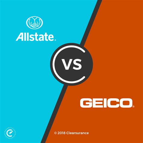 allstate  geico consumer ratings  rates clearsurance