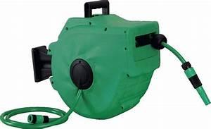 Enrouleur Tuyau Arrosage Brico Depot : d vidoir automatique mural vert et noir l 20 m x 12 5 ~ Dailycaller-alerts.com Idées de Décoration