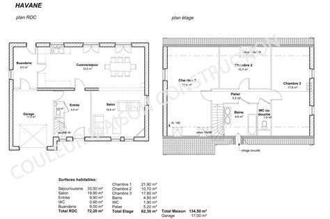 plan maison plain pied 3 chambres gratuit couleur maison construction le plan de maison de notre